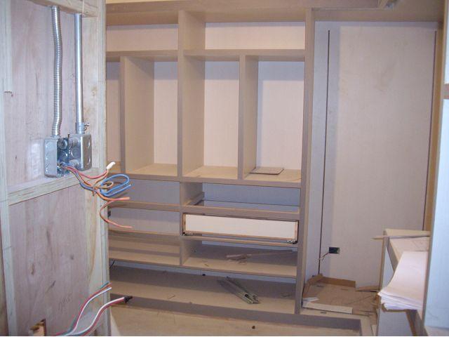 木工裝潢-更衣間施工