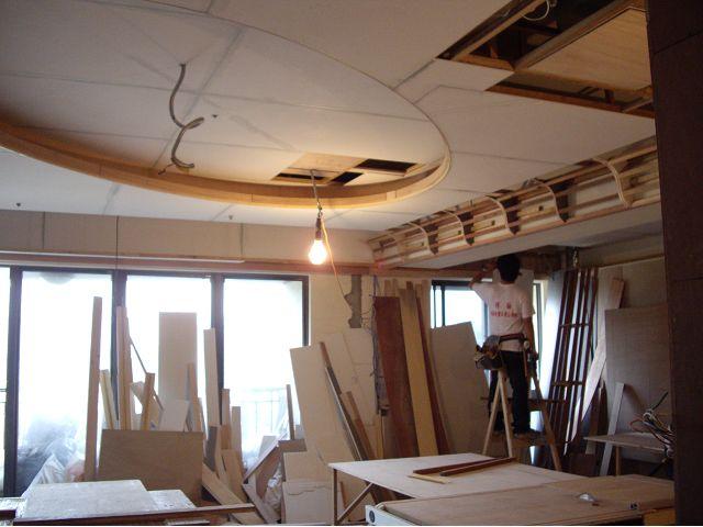 造型天花板-橢圓形天花板施工
