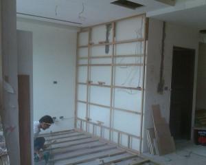 木工裝潢隱藏拉門施工