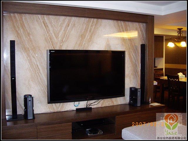 木工裝潢-大理石電視牆