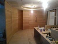 木工裝潢-玄關弧形貼皮造型牆
