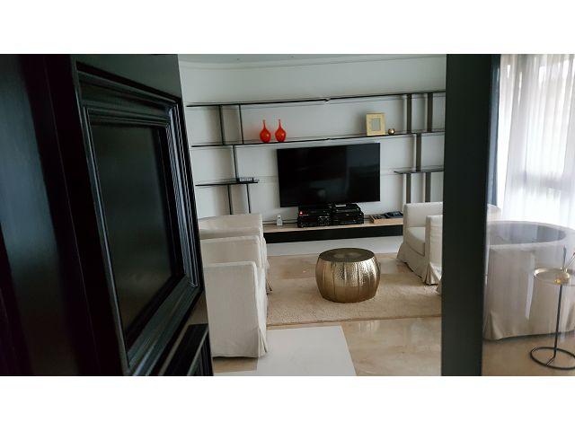 大直住家客廳裝潢-電視牆