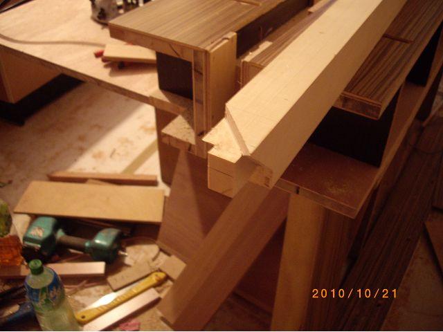 美檜木工裝潢-實木電視櫃的作榫施工記錄